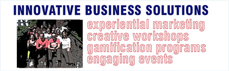 experiential events, gamification programs, creativity workshops